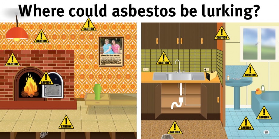 Where could asbestos be lurking